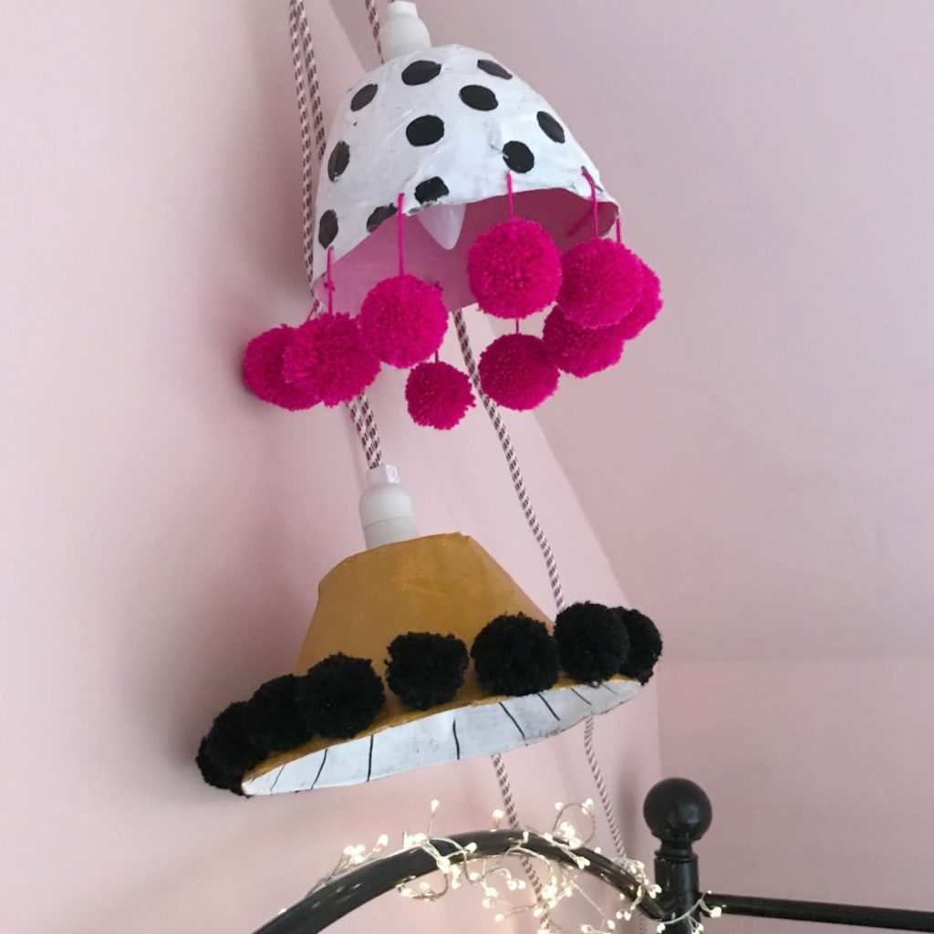 Diy Paper Mache Lamp Shade Aproudhome
